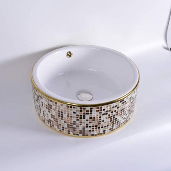 Chậu rửa mặt lavabo Lộc An Phát C-0024BLM