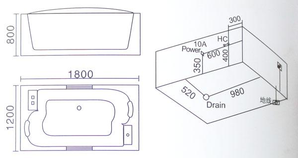 Bồn tắm massage Laiwen W-3110