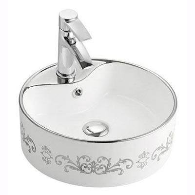 Chậu rửa mặt lavabo nghệ thuật LAP A029-K18 (bạc)