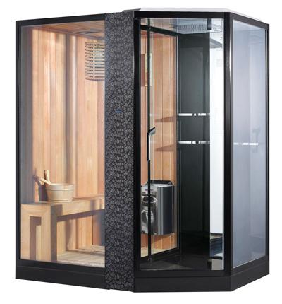 Phòng xông hơi khô, ướt Nofer VS-89103S L Black