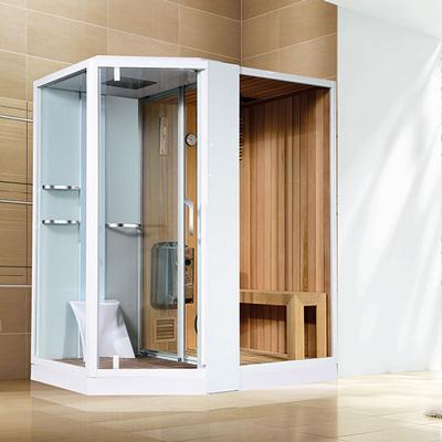 Phòng xông hơi khô, ướt Nofer VS-89103S R White