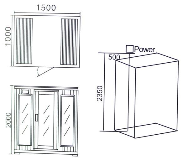 Phòng xông hơi khô hồng ngoại LaiWen W-8002