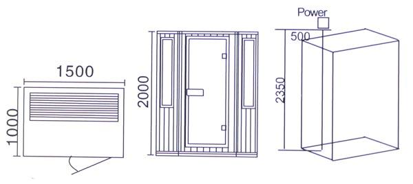 Phòng xông hơi khô hồng ngoại LaiWen W-8005