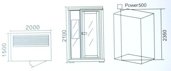 Phòng xông hơi khô hồng ngoại LaiWen W-8014