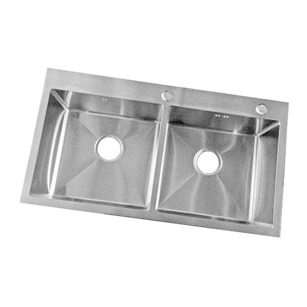 Chậu rửa bát Rovely 8245C Thông số kỹ thuật Kích thước(DxRxS): 820x450x230 mm Độ dày thành chậu: 1,2 mm Chất liệu : inox 304 Hai hố cân