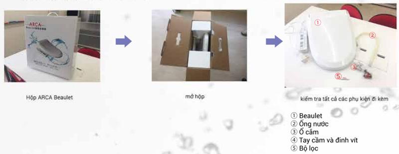 Nắp rửa điện tử ARCA YL-01 (Nhật Bản) - Mở hộp