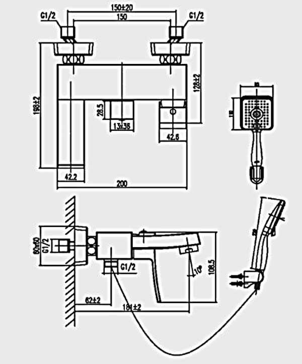 Sen tắm nóng lạnh Inax BFV-403S