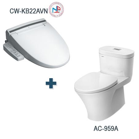 Bồn cầu nắp rửa điện tử Inax AC-959A+CW-KB22AVN