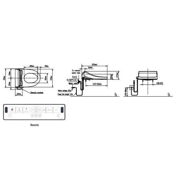 Nắp rửa bồn cầu điện tử American WP-7SR1