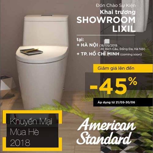 Khuyến mãi American Standard Hè 2018