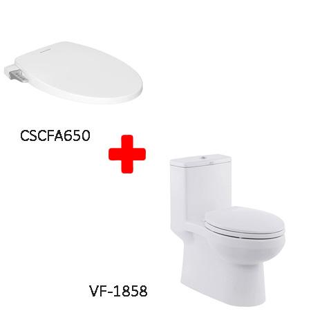 Bộ sản phẩm bồn cầu American VF-1858 + CSCFA650