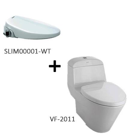 Bồn cầu nắp rửa thông minh American VF-2011 + SLIM00001-WT