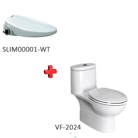 Bồn cầu nắp rửa thông minh American VF-2024 + SLIM00001-WT