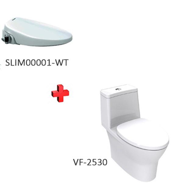 Bồn cầu American VF-2530 + nắp rửa thông minh SLIM00001-WT(VF-2530S)