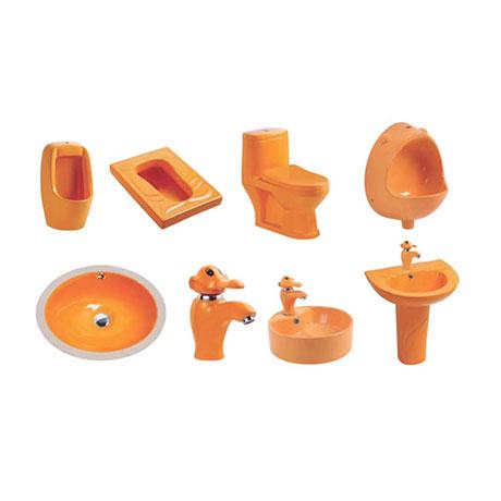 Bộ sưu tập bồn cầu trẻ em theo màu sắc (Màu cam)