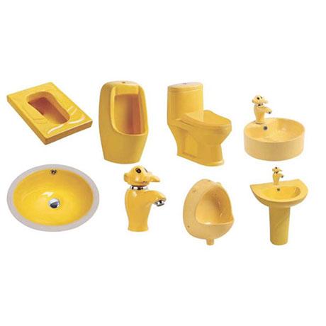 Bộ sưu tập bồn cầu trẻ em theo màu sắc (Màu vàng)
