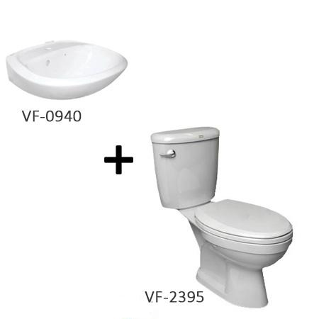 Bộ sản phẩm bồn cầu American VF-2395 + chậu rửa lavabo VF-0940 (Combo American)