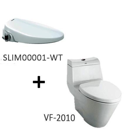 Bồn cầu nắp rửa thông minh American VF-2010 + SLIM00001-WT