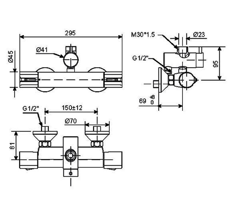 Vòi sen tắm nóng lạnh American WF-4948