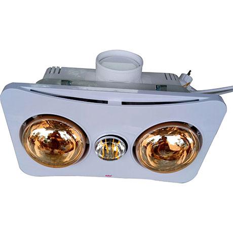 Đèn sưởi nhà tắm 2 bóng âm trần Braun Kohn BK02G không có điều khiển