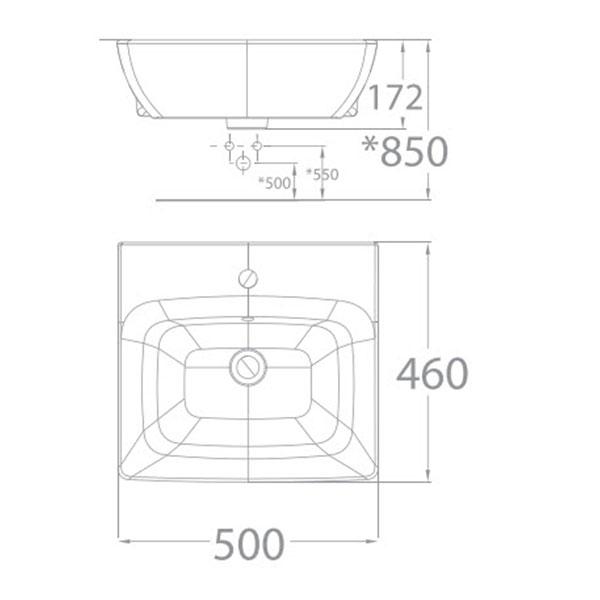 Chậu rửa mặt lavabo American WP-F301