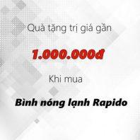 Mua 2 bình nóng lạnh Rapido tặng quà trị giá gần 1.000.000đ