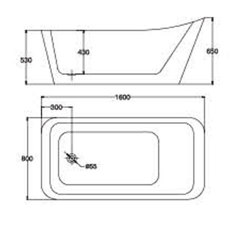 bản vẽ Bồn tắm EU Design MF-1438