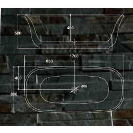 bản vẽ Bồn tắm EU Design MF-1451