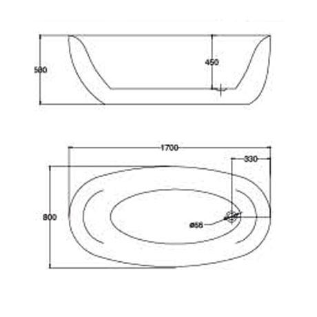 bản vẽ Bồn tắm EU Design MF-1452