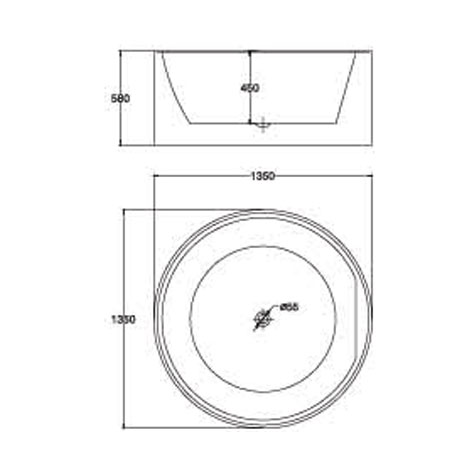 bản vẽ Bồn tắm EU Design MF-1463