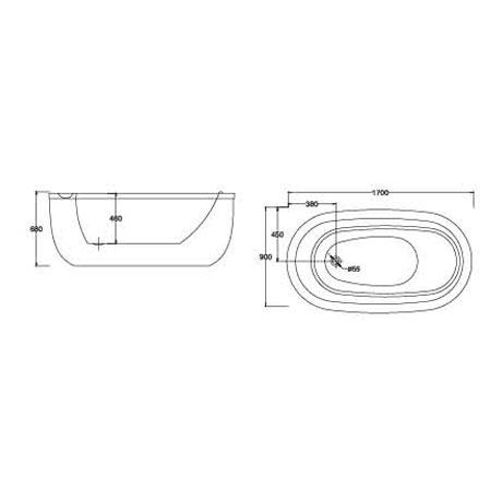 bản vẽ Bồn tắm EU Design MF-1468