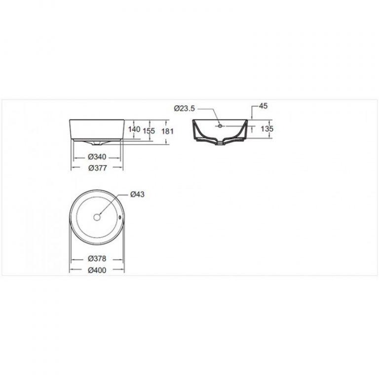 Bộ chậu đặt bàn và vòi American 0509-WT +WF-1302(V9)