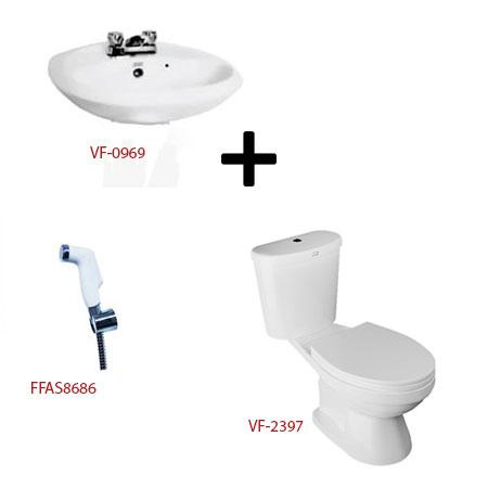Bồn cầu American + bộ sản phẩm phòng tắm – Gói W14-Mùa Đông (Combo American)
