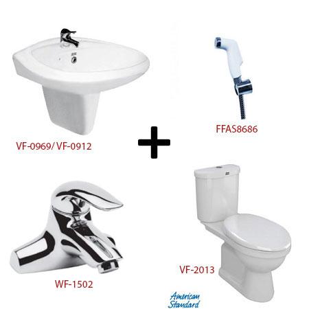 Bộ sản phẩm phòng tắm American ( Gói S17)