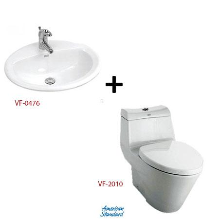 Bồn cầu American kèm chậu rửa – Gói A1 (Combo American)