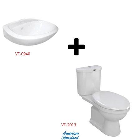 Bộ sản phẩm bàn cầu và chậu lavabo American VF-0940 +VF-2013