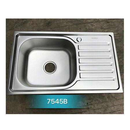 Chậu rửa bát giá rẻ 1 hố 1 bàn Korea TP-7545B