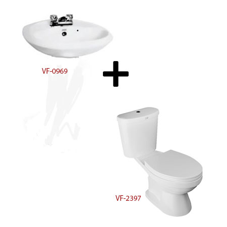 Bồn cầu American kèm bộ sản phẩm phòng tắm – Gói W10 (Combo American)