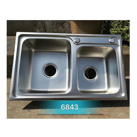 Chậu rửa bát giá rẻ 2 hố lệch Korea TP-6843