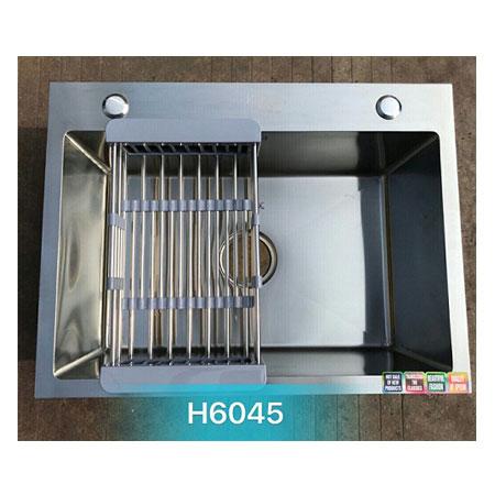 Chậu rửa bát giá rẻ đúc liền khối 1 hố Korea TP-H-6045
