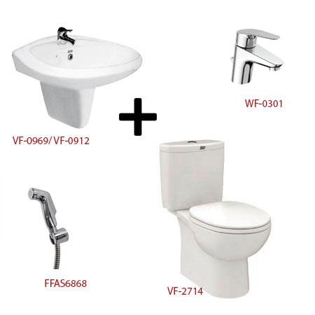 Bộ sản phẩm phòng tắm American ( Gói D9)