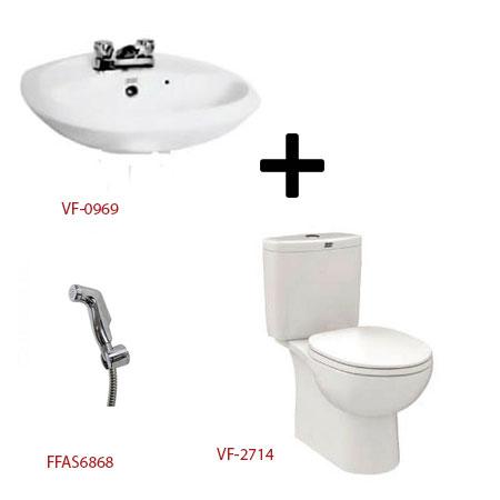 Bộ sản phẩm phòng tắm American ( Gói D6)