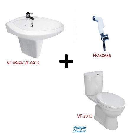 Bộ sản phẩm phòng tắm American ( Gói S10 )