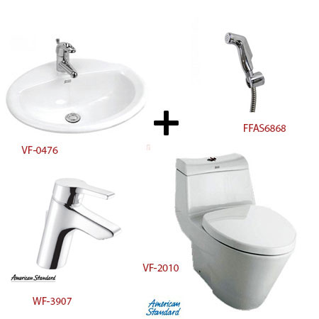 Bộ sản phẩm phòng tắm American ( Gói A3)