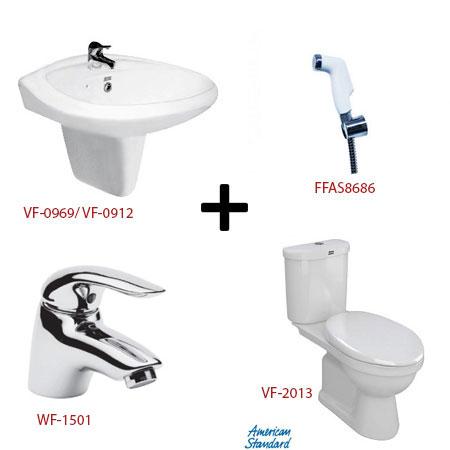 Bộ sản phẩm phòng tắm American ( Gói S15)