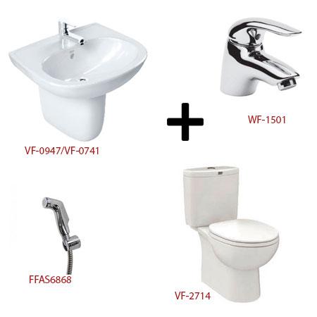 Bộ sản phẩm phòng tắm American ( Gói D3)
