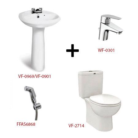 Bộ sản phẩm phòng tắm American ( Gói D10)