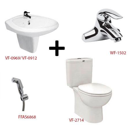 Bộ sản phẩm phòng tắm American ( Gói D15)
