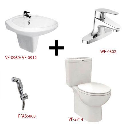 Bộ sản phẩm phòng tắm American ( Gói D11)