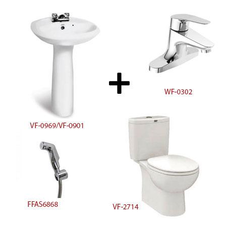 Bộ sản phẩm phòng tắm American ( Gói D12)